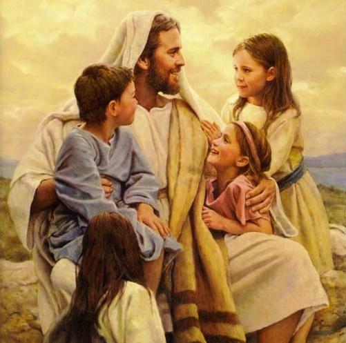 Jesus with children images