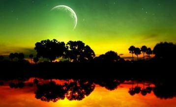 Sunset reflection 1
