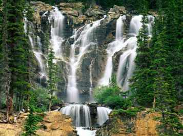 waterfall Tangle_Creek_Falls,_Jasper_National_Park