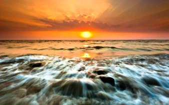 waves-sunset-nature-801