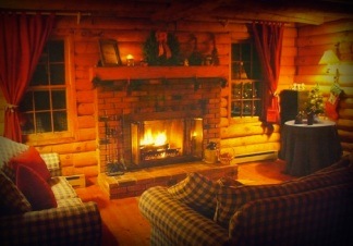 Cabin - fireplace 2