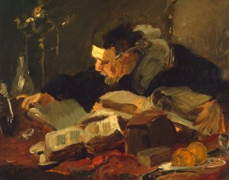 Wauters-Emile-Charles-Scholar_at_the_Table-1
