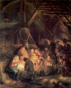 adoration-of-the-shepherds-Rembrandt