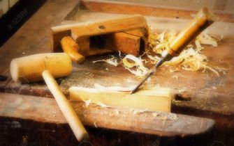 tools-on-a-workbench-carpenter-joinery-work
