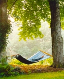 lying on hammock