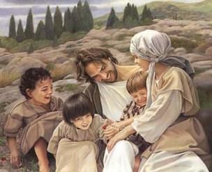 Jesus-children laughing