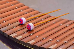 Closeup of alto xylophone, Thai instrument.