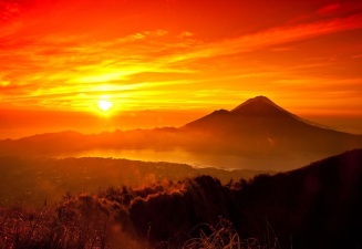 The Beauty of Mount Bromo Sunset in Java Island copy